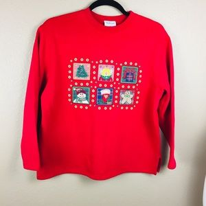 Westbound red Christmas sweatshirt size large